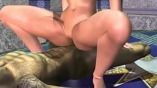 3d big breasted queen fucked hard by alien