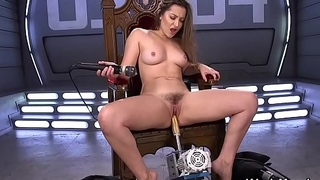 Pole dancer solo fucks tool